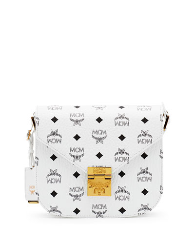 Patricia Visetos Small Shoulder Bag, White