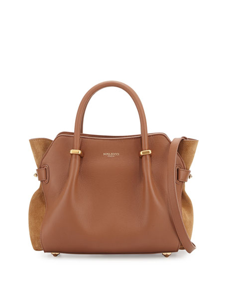 Nina Ricci Marche Small Leather Tote Bag, Rawhide