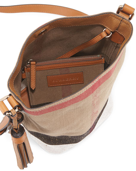 2efdf350062f Burberry Ashby Canvas Check Crossbody Bag