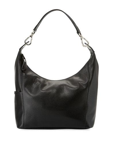 Le Foulonne Small Hobo Bag, Black