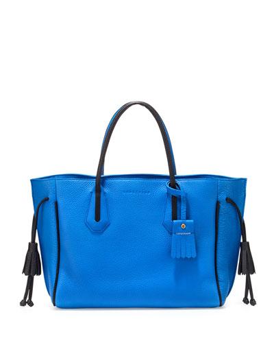 Penelope Medium Tote Bag, Indigo/Black