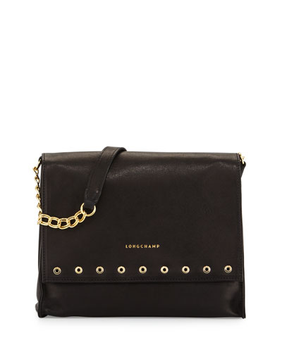 Paris Rocks Medium Crossbody Bag, Black