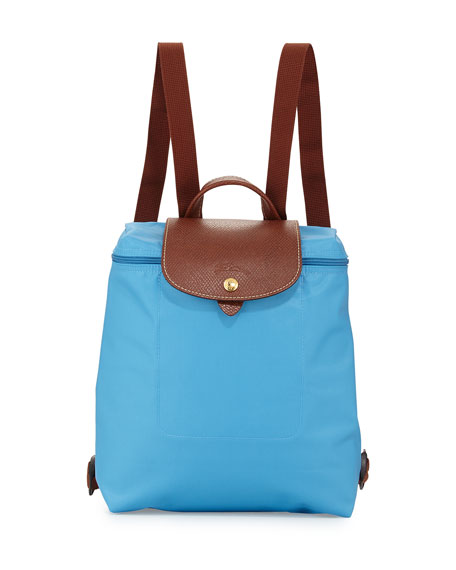 Longchamp Le Pliage Nylon Backpack, Cornflower