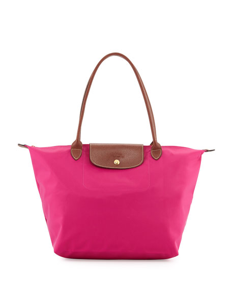 Longchamp Le Pliage Large Shoulder Tote Bag, Cyclamen