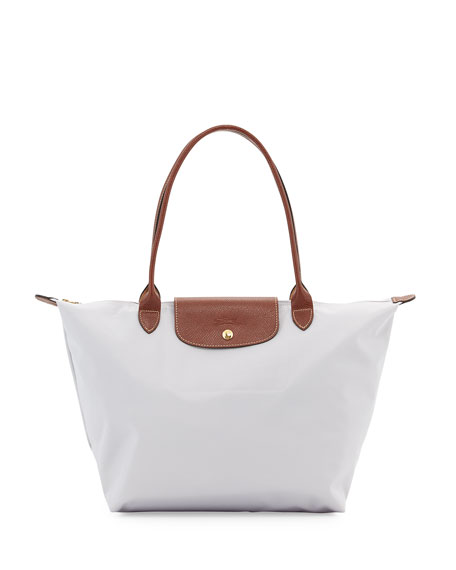 Longchamp Le Pliage Large Shoulder Tote Bag, Pearl