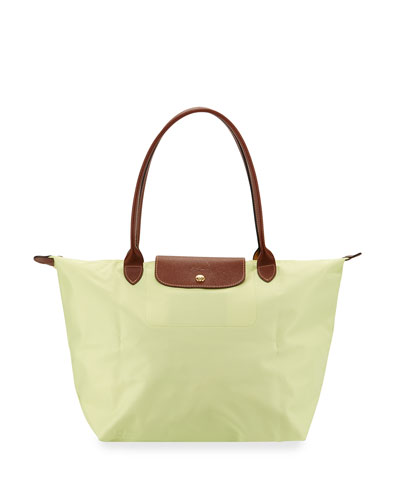 Le Pliage Large Shoulder Tote Bag, Anise
