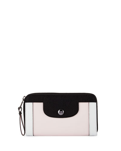 Le Pliage Heritage Tricolor Wallet, Girl/Black/White