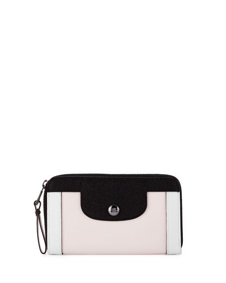 Longchamp Le Pliage Heritage Tricolor Wallet, Girl/Black/White