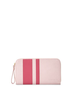 Le Foulonne City Zip-Around Striped Wallet, Girl