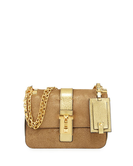 Valentino B-Rockstud Metallic Shoulder Bag