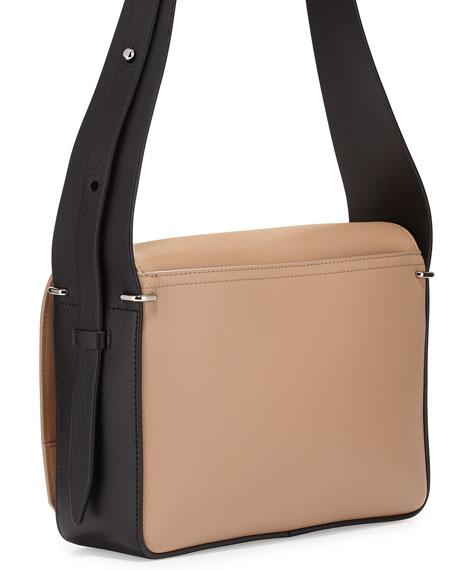 Alix Flap Shoulder Bag, Fawn/Black