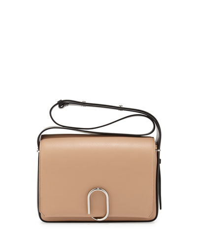 Alix Flap Shoulder Bag, Fawn/Black