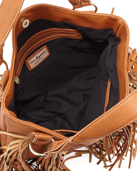 Castaway Faux-Leather Tote Bag, Tan