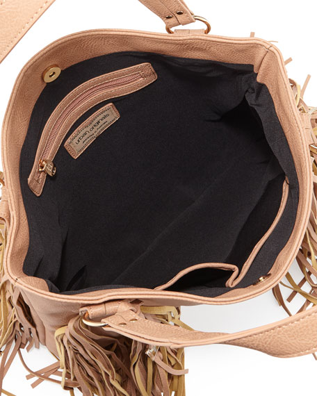 Castaway Faux-Leather Tote Bag, Nude
