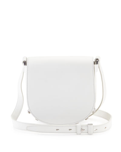 Lia Mini Soft Draped Shoulder Bag, Milk