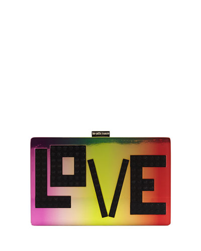 Andy Iridescent Love Clutch Bag