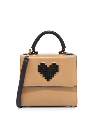 Alex Mini Lolita Crossbody Bag, Camel/Black
