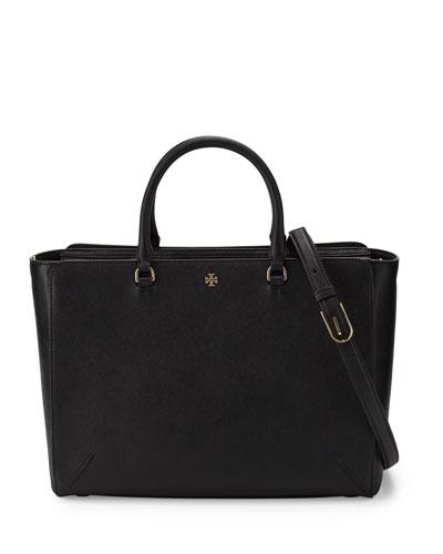 Robinson Large Zip-Top Tote Bag, Black