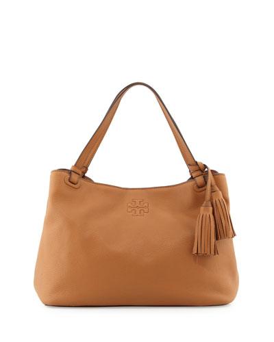 Thea Center-Zip Tote Bag, Bark