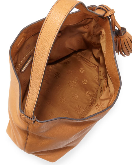 Tory Burch Thea Leather Hobo Bag, Bark