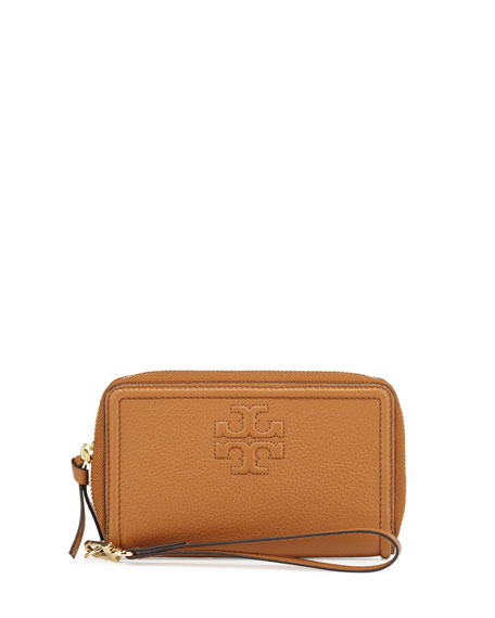 Tory Burch Thea Zip-Around Smartphone Wristlet Wallet, Bark