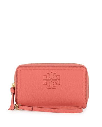 Thea Zip-Around Smartphone Wristlet Wallet, Spice Coral