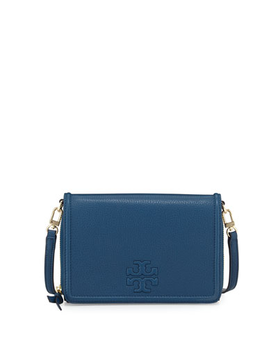 Thea Leather Wallet Crossbody Bag, Tidal Wave