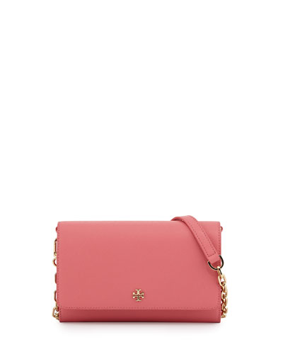 Robinson Saffiano Wallet-On-Chain, Pale Apricot