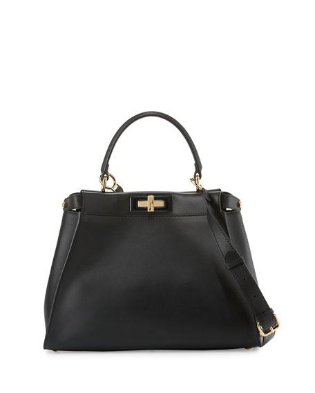 Fendi Peekaboo Medium Satchel Bag, Black
