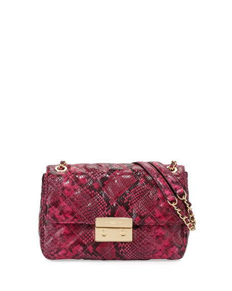 MICHAEL Michael Kors Sloan Large Chain Shoulder Bag, Fuchsia