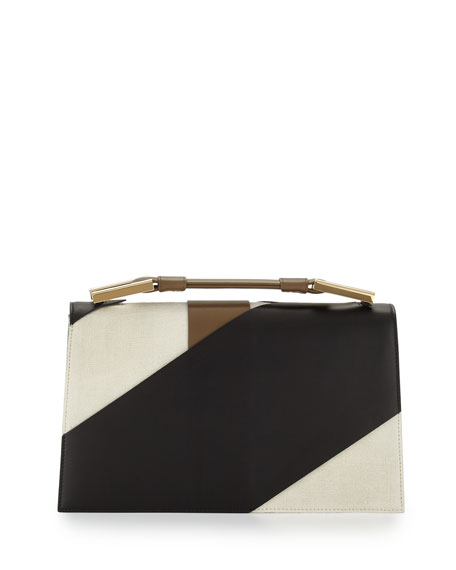 Jason Wu Charlotte Origami Canvas & Leather Evening