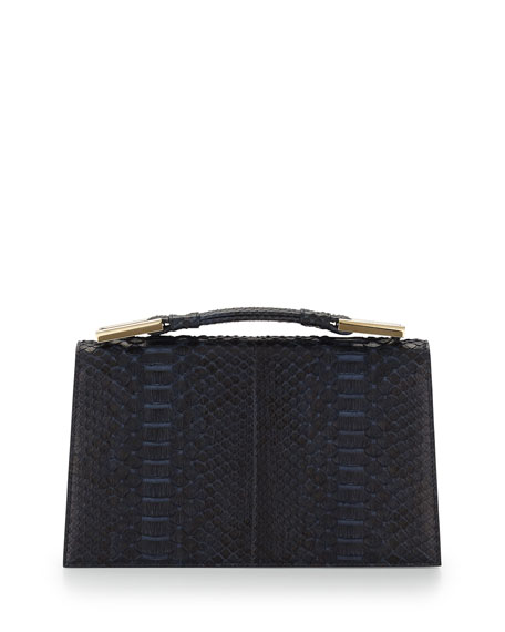 Jason WuCharlotte Origami Python & Leather Evening Clutch