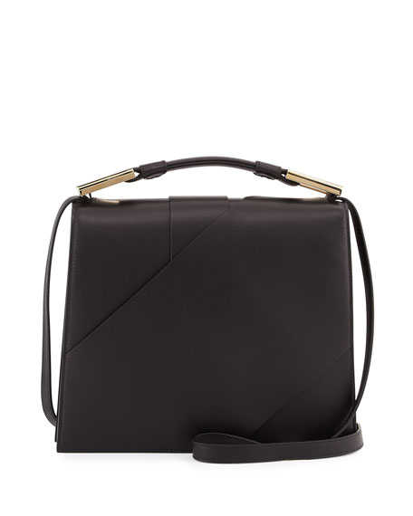 Jason Wu Charlotte Origami Leather Handbag, Black