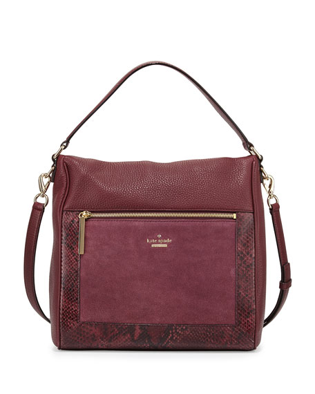 chatham lane harris shoulder bag, mulled wine