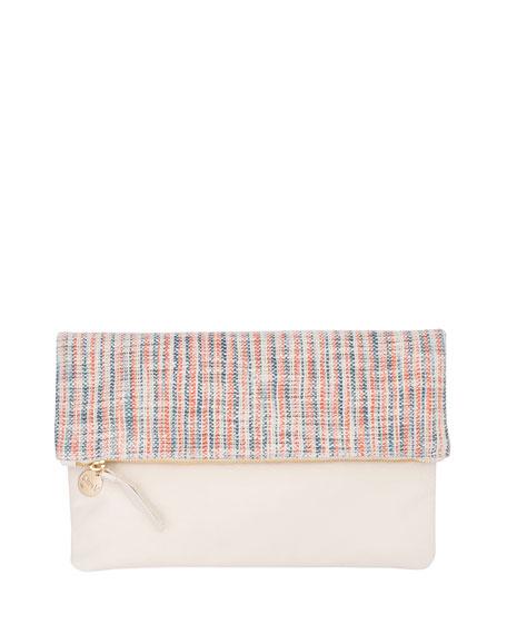 Matilde Fold-Over Clutch Bag, Multi/Cream