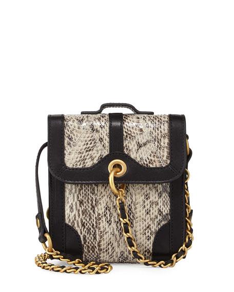 SJP by Sarah Jessica Parker Grove Leather & Snakeskin Shoulder Bag, ...