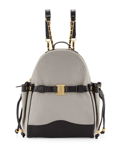 Uni Colorblock Leather Backpack, Gibson/Noir