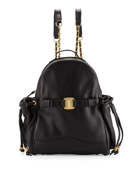 Uni Leather Backpack, Black
