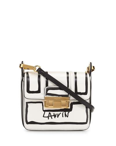 Jiji Lanvin-Print Mini Shoulder Bag, White/Black