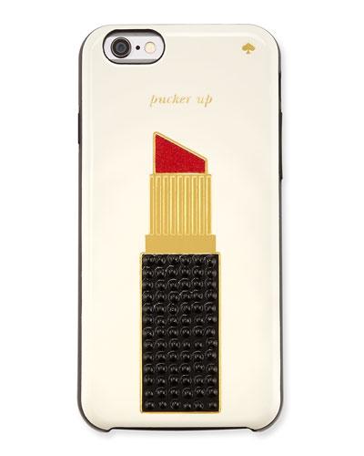 jeweled lipstick iPhone 6 case, multicolor