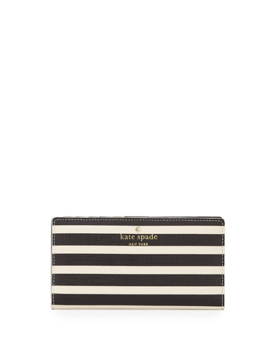 fairmount square stacy striped wallet, black/sandy beach