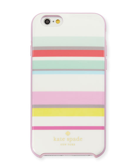 multi-stripe iPhone 6/6s case, pink/multi