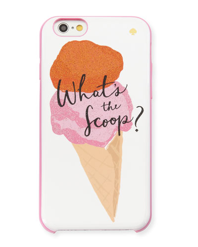 what's the scoop iPhone 6/6s case, pink/white