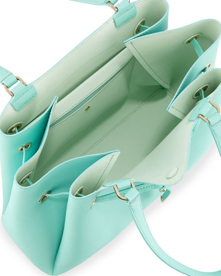 cape drive lynnie tote bag, soft aqua/mint