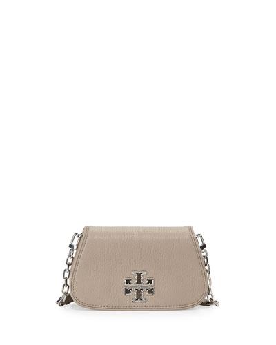 Britten Mini Crossbody Bag, French Gray