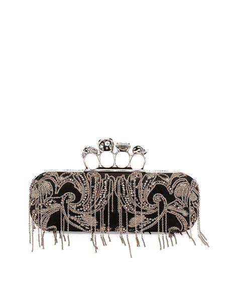 Knuckle Box Chain Clutch Bag, Black