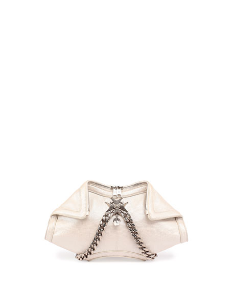 Alexander McQueenDe-Manta Small Clutch Bag, Pearl