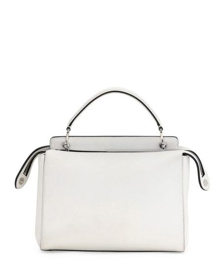 Dotcom Medium Whipstitch Satchel Bag, White