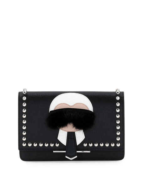 Fendi Karlito Wallet-on-Chain, Black Multi