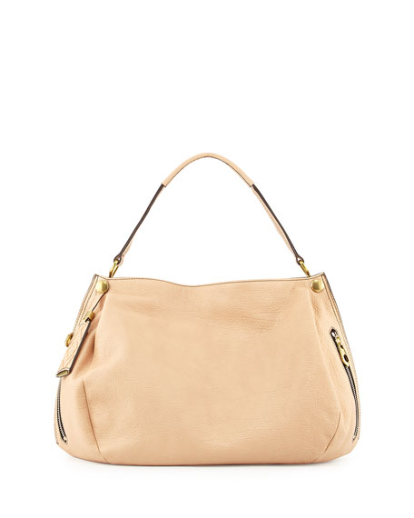 Oryany Kerry Leather Shoulder Bag, Almond